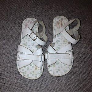 Stride Rite White Velcro Sandals